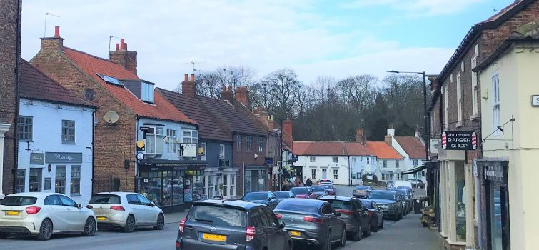 Looking down the High Street